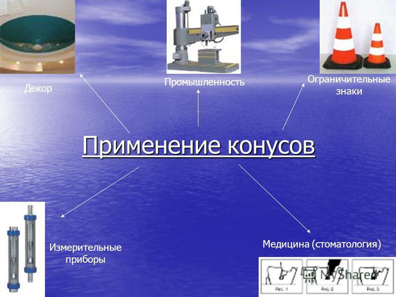 Применение конусов Декор Промышленность Ограничительные знаки Измерительные приборы Медицина (стоматология)