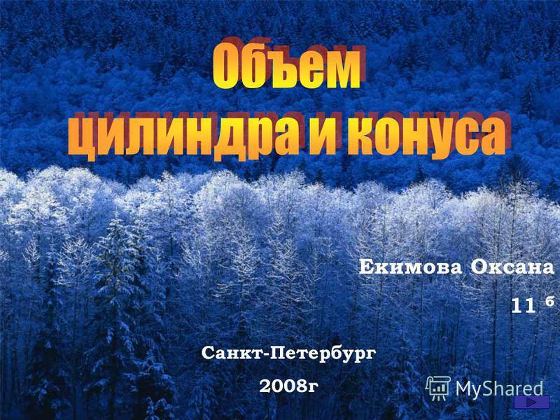 Екимова Оксана 11 б Санкт-Петербург 2008 г