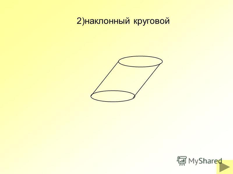 2)наклонный круговой