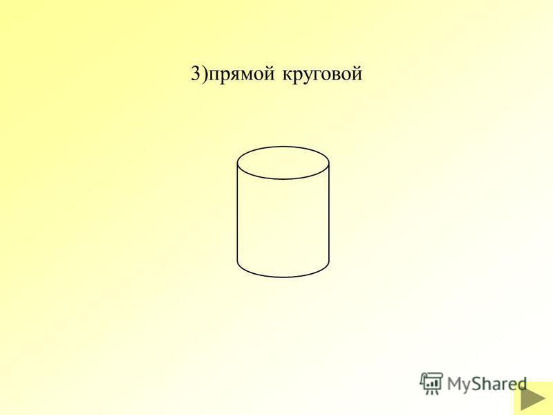 3)прямой круговой