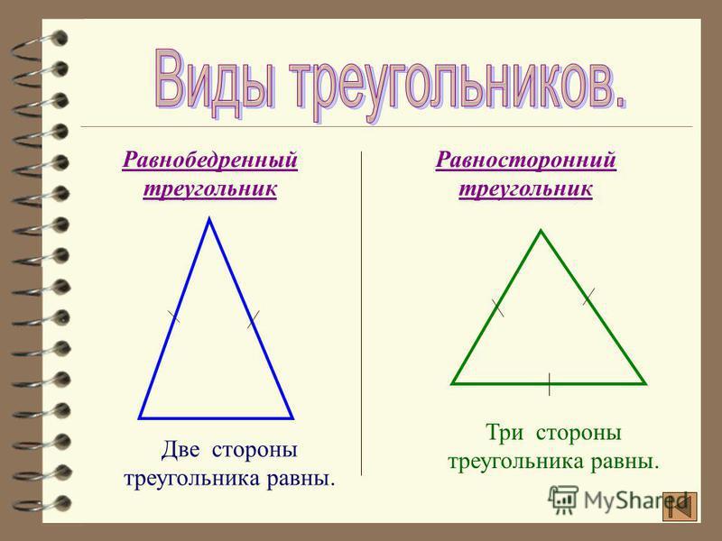 все углы острые Остроугольный треугольник есть один тупой угол Тупоугольный треугольник Прямоугольный треугольник есть прямой угол