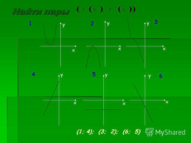 Найти пары x xx yy y x x x yy y 12 3 45 6 (1; 4); (3; 2); (6; 5)