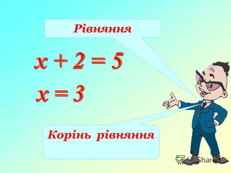 Рівняння Корінь рівняння