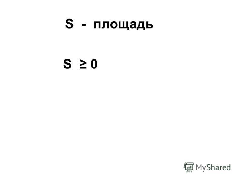 S - площадь S 0
