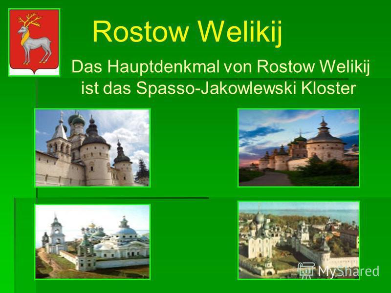 Pereslawl-Salesski Zu den Sehenswürdigkeiten gehören auch die Nikolski Kathedrale, das Spasso- Preobrashenski- Kloster.