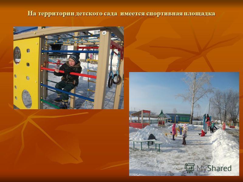 На территории детского сада имеется спортивная площадка На территории детского сада имеется спортивная площадка