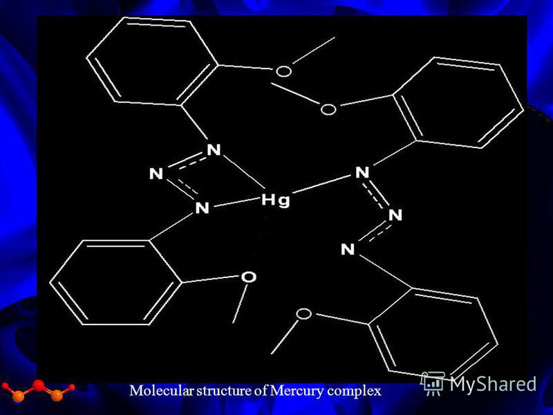 Molecular structure of Mercury complex