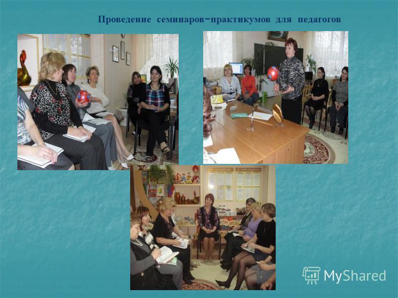 Проведение семинаров - практикумов для педагогов