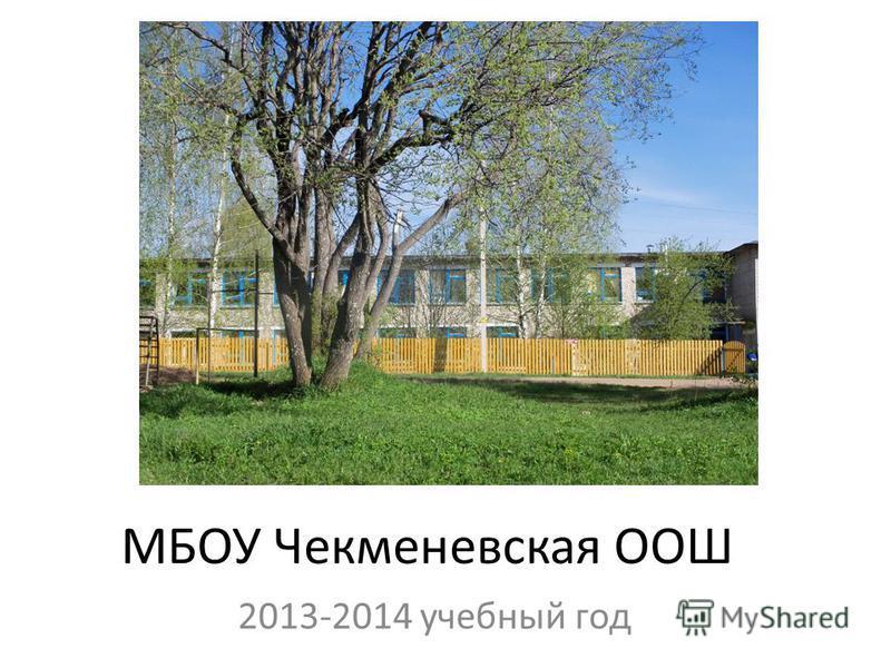 МБОУ Чекменевская ООШ 2013-2014 учебный год