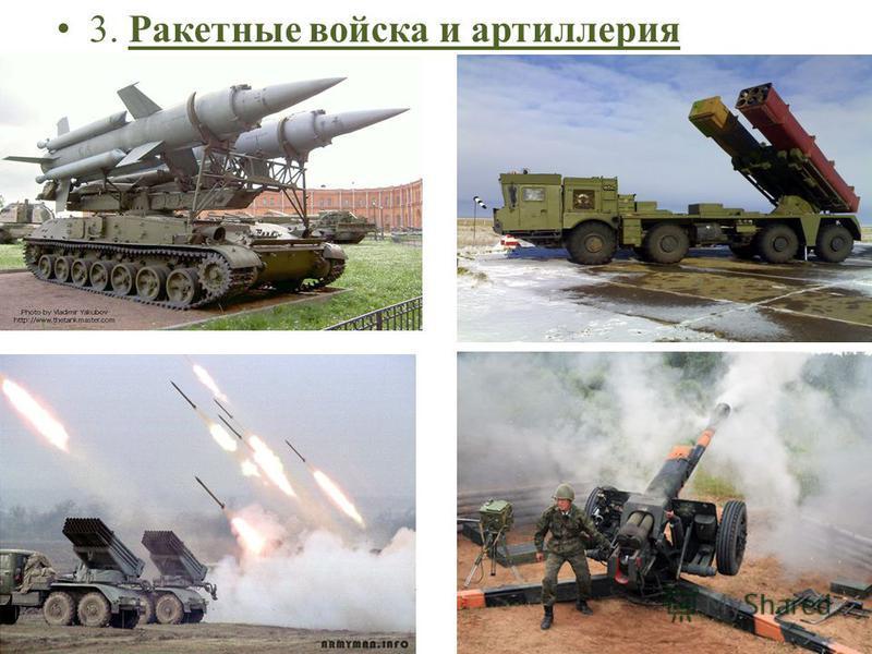 3. Ракетные войска и артиллерия