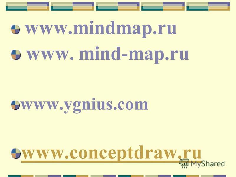 www.mindmap.ru www. mind-map.ru www.ygnius.com www.conceptdraw.ru