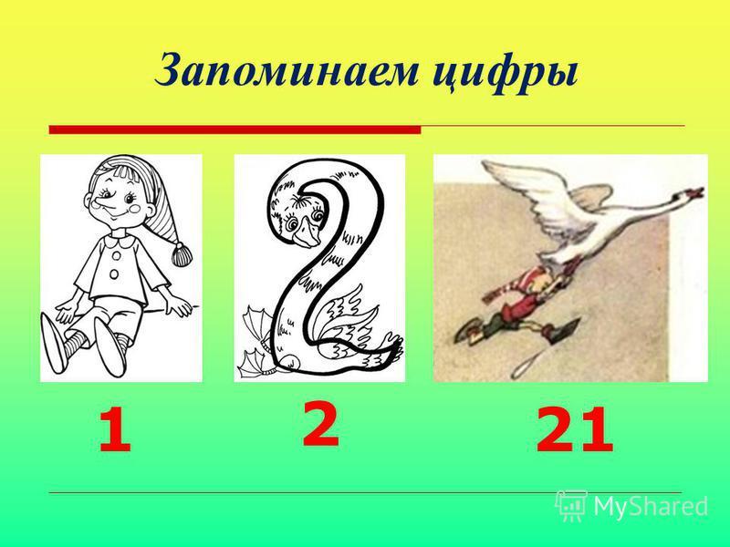 21 Запоминаем цифры 2 1