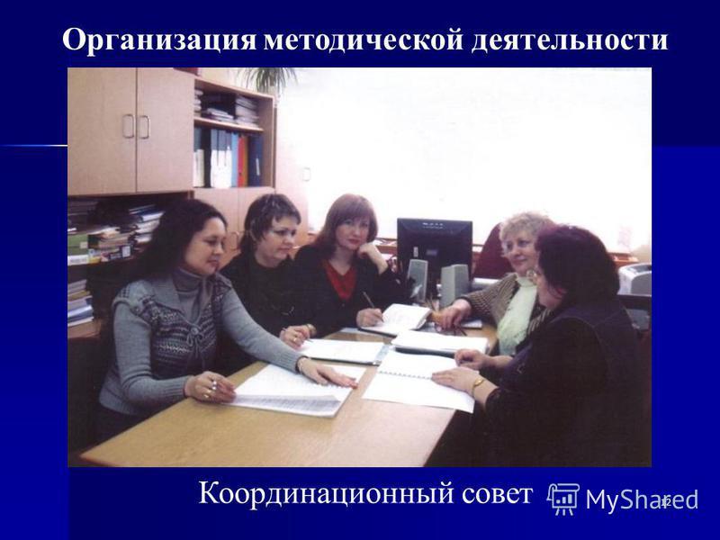12 Координационный совет Организация методической деятельности