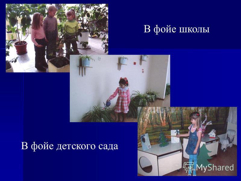 24 В фойе школы В фойе детского сада