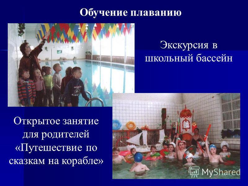 27 Обучение плаванию Экскурсия в школьный бассейн Открытое занятие для родителей «Путешествие по сказкам на корабле»