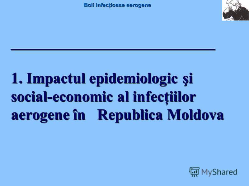 Boli infecţioase aerogene ________________________ 1. Impactul epidemiologic şi social-economic al infecţiilor aerogene în Republica Moldova