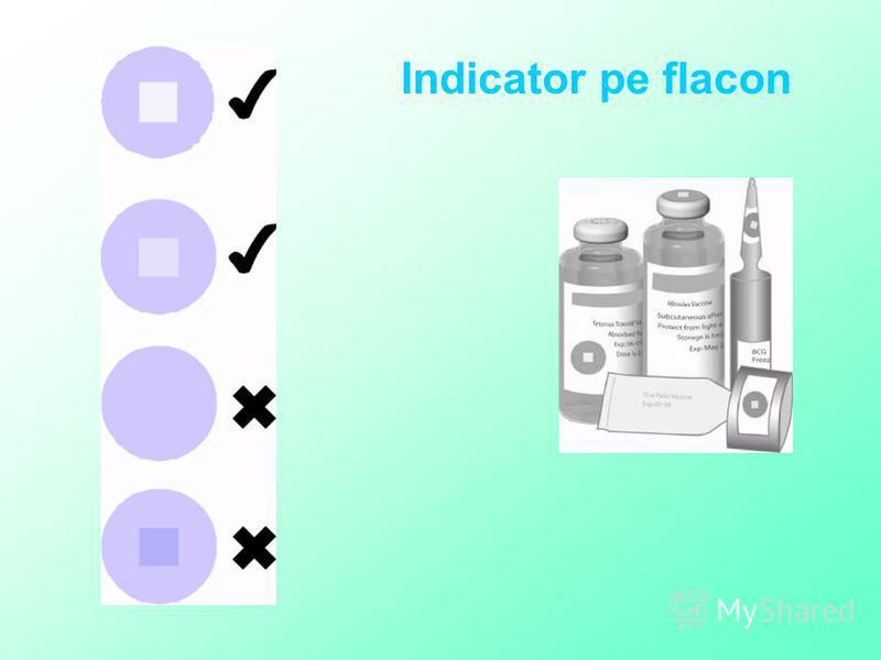 Indicator pe flacon