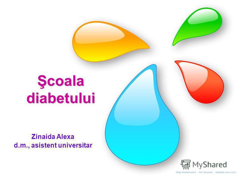 Şcoala diabetului Zinaida Alexa d.m., asistent universitar