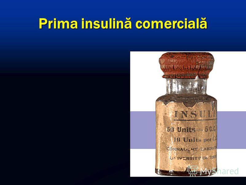 Prima insulină comercială