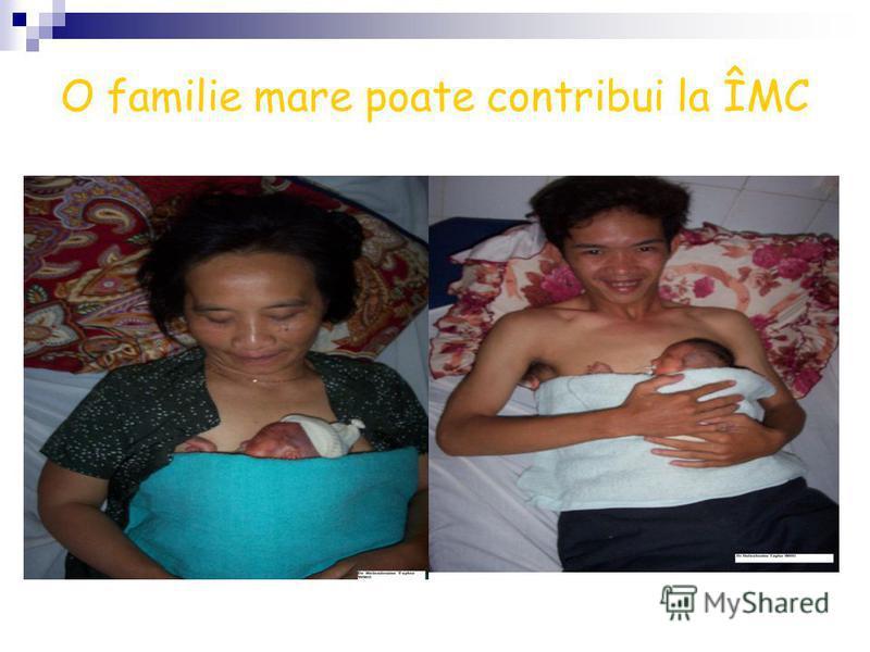 O familie mare poate contribui la ÎMC