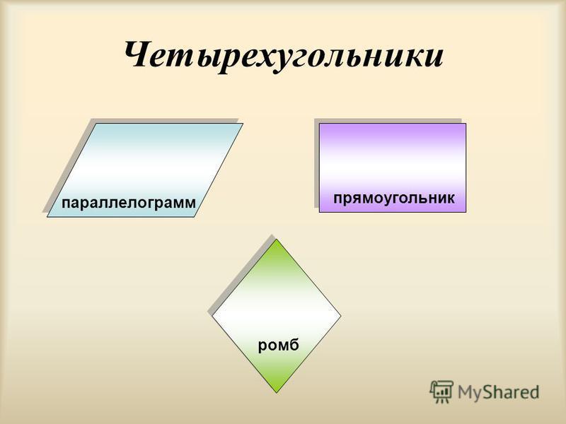 Четырехугольники параллелограмм прямоугольник ромб