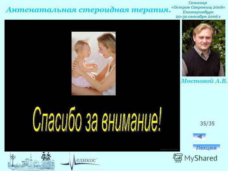 Антенатальная стероидная терапия. Мостовой А.В. 35/35