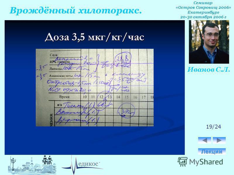 Врождённый хилоторакс. Иванов С.Л. 19/24