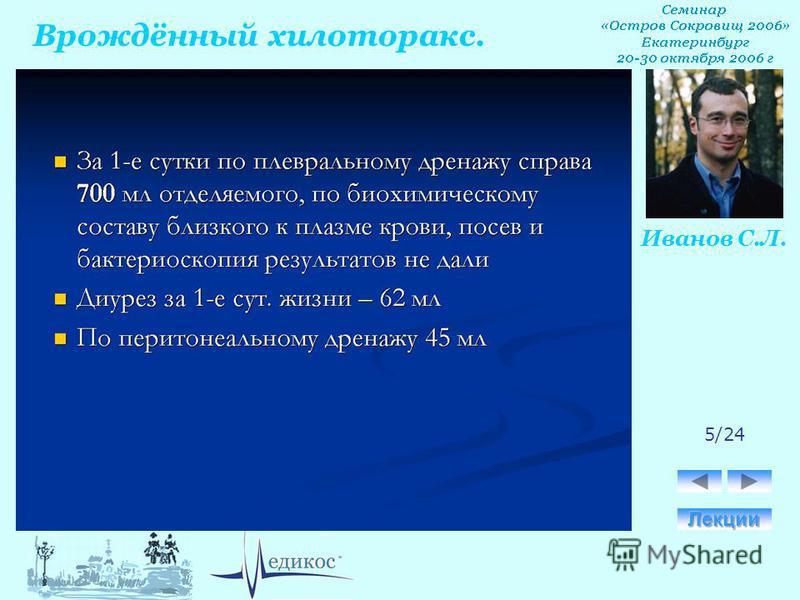 Врождённый хилоторакс. Иванов С.Л. 5/24