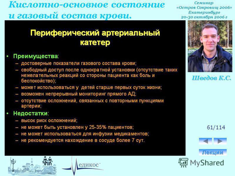 Кислотно-основное состояние и газовый состав крови. Шведов К.С. 61/114