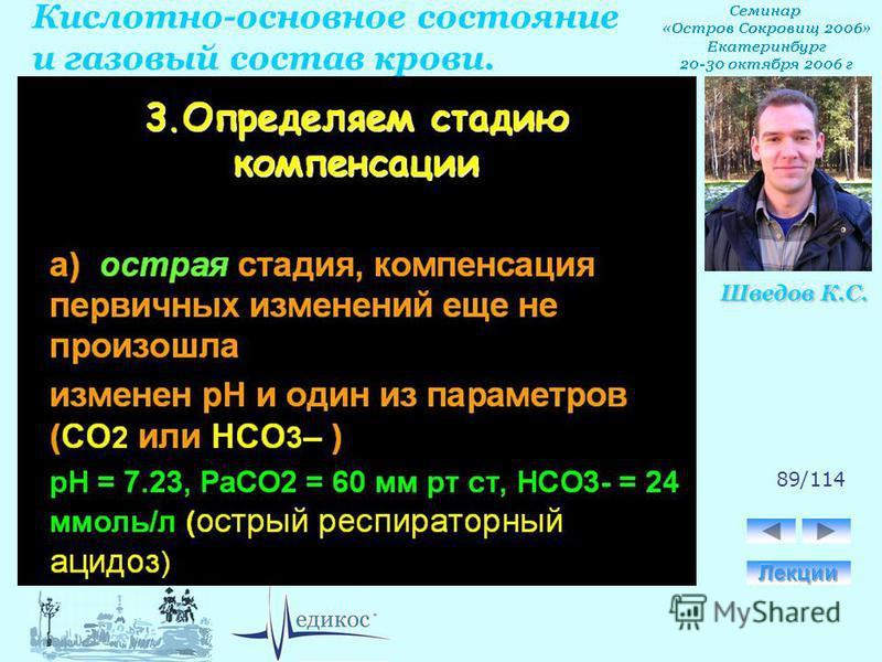Кислотно-основное состояние и газовый состав крови. Шведов К.С. 89/114