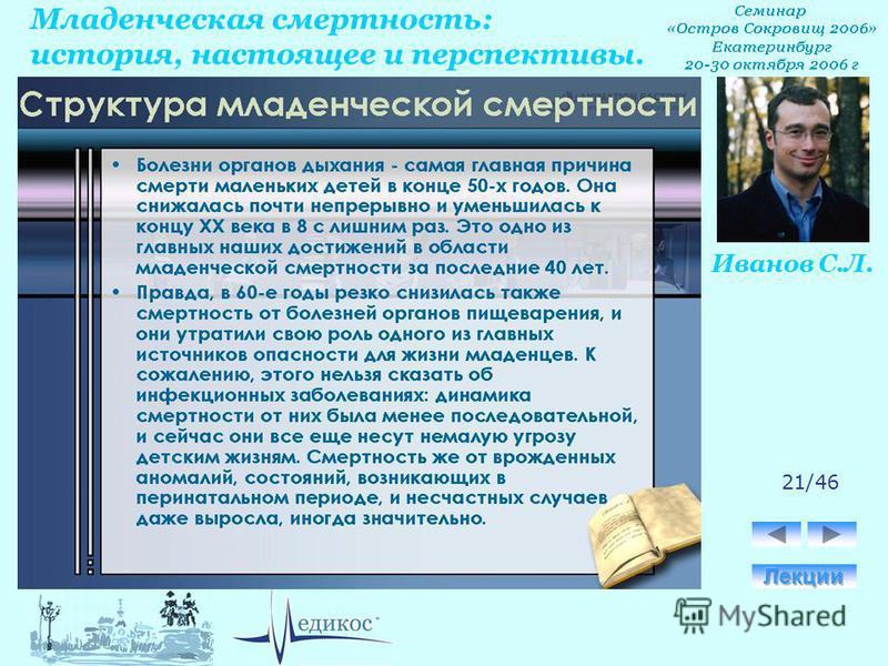 Младенческая смертность: история, настоящее и перспективы. Иванов С.Л. 21/46