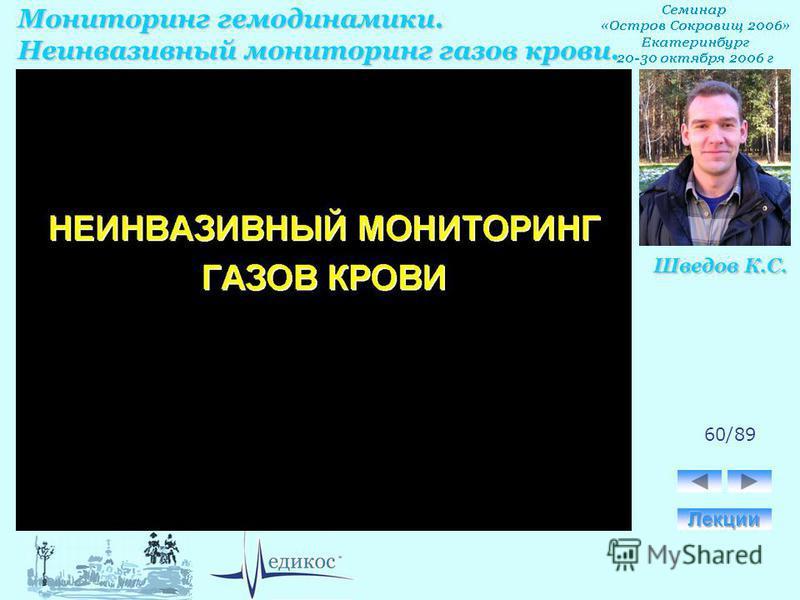 Мониторинг гемодинамики. Неинвазивный мониторинг газов крови. Шведов К.С. 60/89