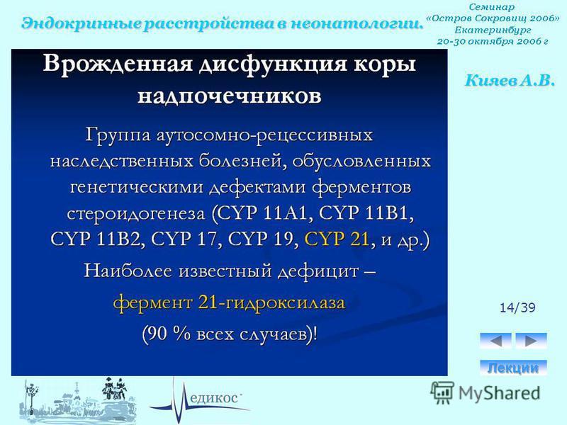 Эндокринные расстройства в неонатологии. Кияев А.В. 14/39