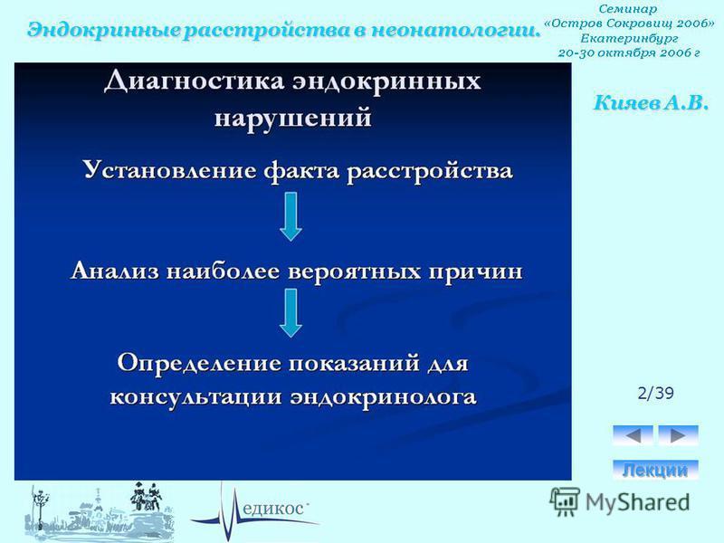 Эндокринные расстройства в неонатологии. Кияев А.В. 2/39