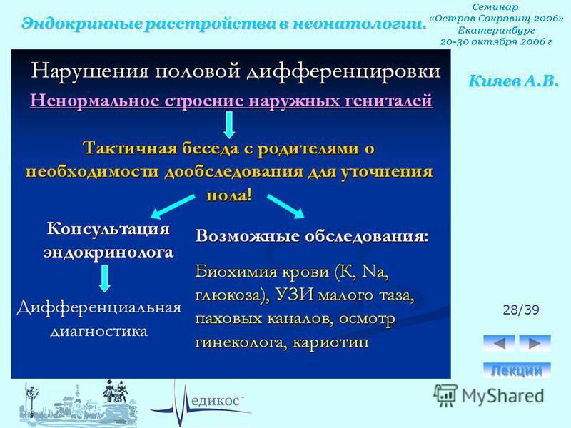 Эндокринные расстройства в неонатологии. Кияев А.В. 28/39
