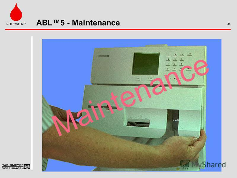 ABL5 - Maintenance 1 RED SYSTEM