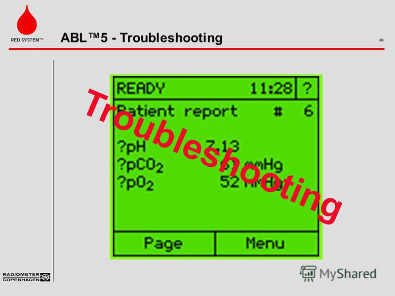 ABL5 - Troubleshooting 1 RED SYSTEM