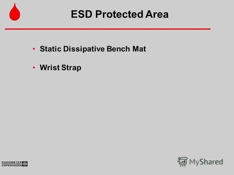 Static Dissipative Bench Mat Wrist Strap ESD Protected Area