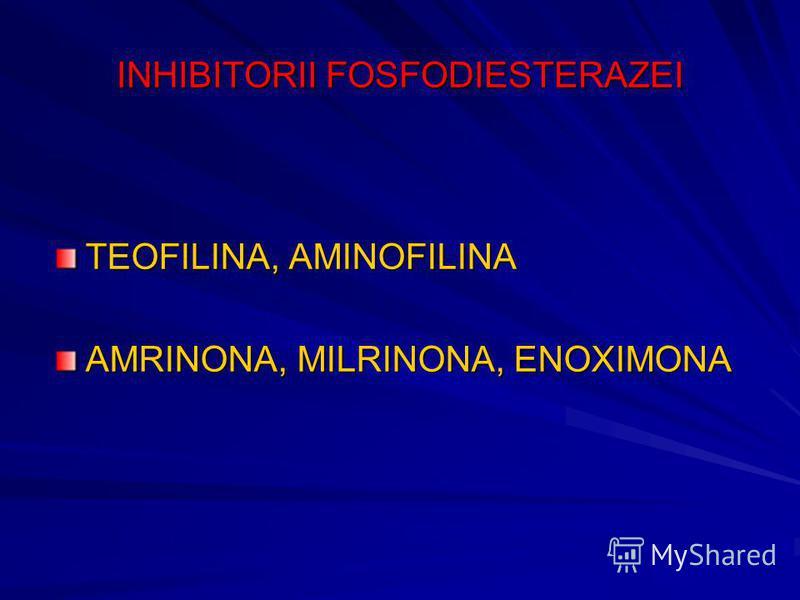 INHIBITORII FOSFODIESTERAZEI TEOFILINA, AMINOFILINA AMRINONA, MILRINONA, ENOXIMONA