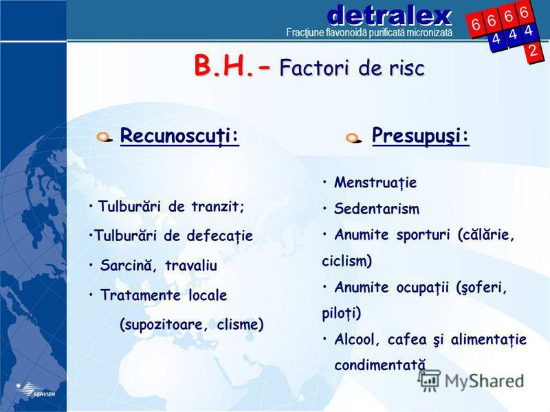 detralex 2 2 4 4 4 4 6 6 4 4 6 6 6 6 6 6 B.H.- Factori de risc Recunoscuţi: Tulburări de tranzit; Tulburări de defecaţie Sarcină, travaliu Tratamente locale (supozitoare, clisme) Menstruaţie Sedentarism Anumite sporturi (călărie, ciclism) Anumite ocu