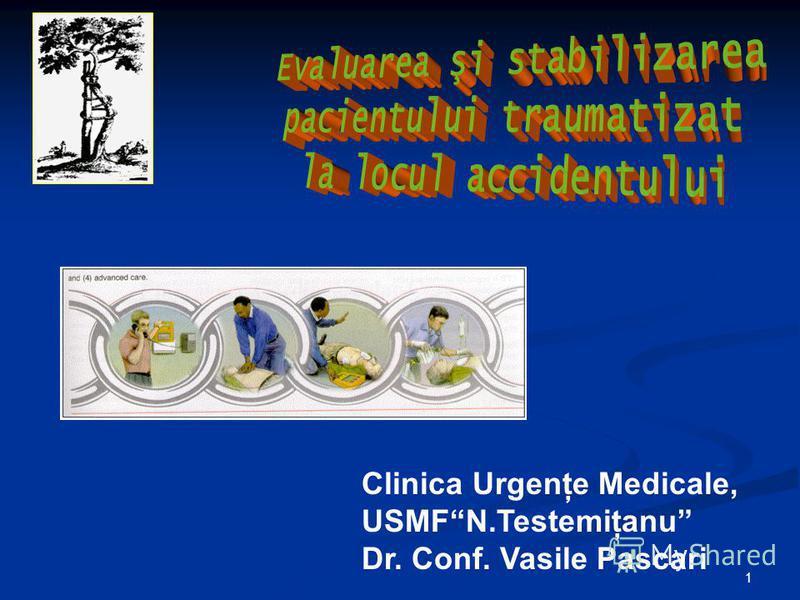 1 Clinica Urgenţe Medicale, USMFN.Testemiţanu Dr. Conf. Vasile Pascari