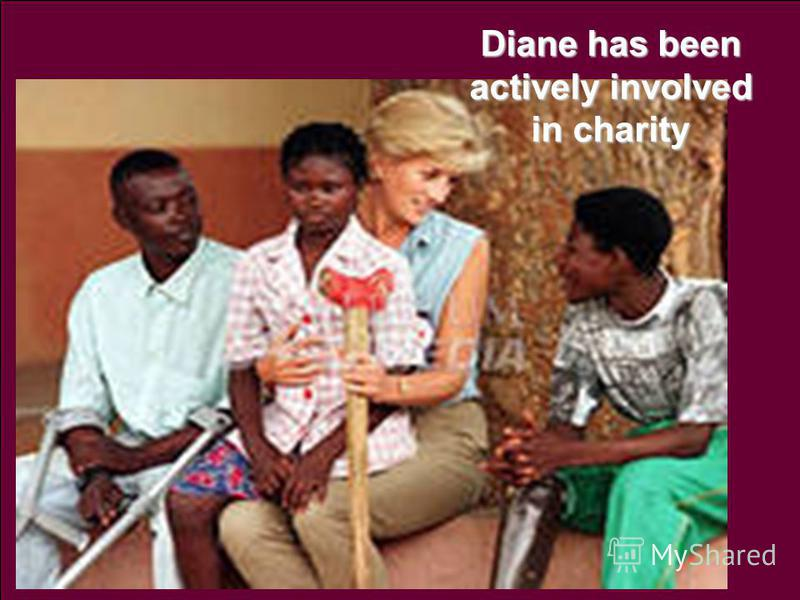 Diane has been actively involved in charity