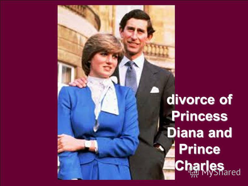 divorce of Princess Diana and Prince Charles