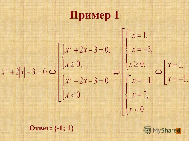 Ответ: {-1; 1}