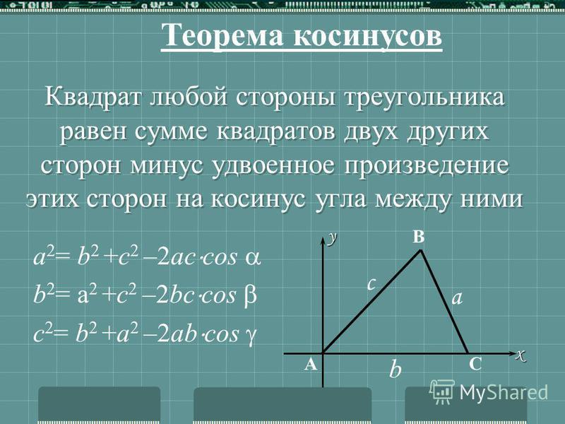 Стороны треугольника пропорциональны синусам противоположных углов с а в В С A Теорема синусов R
