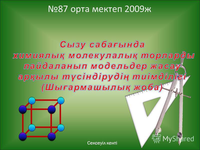 Сексеуіл кенті 87 орта мектеп 2009ж