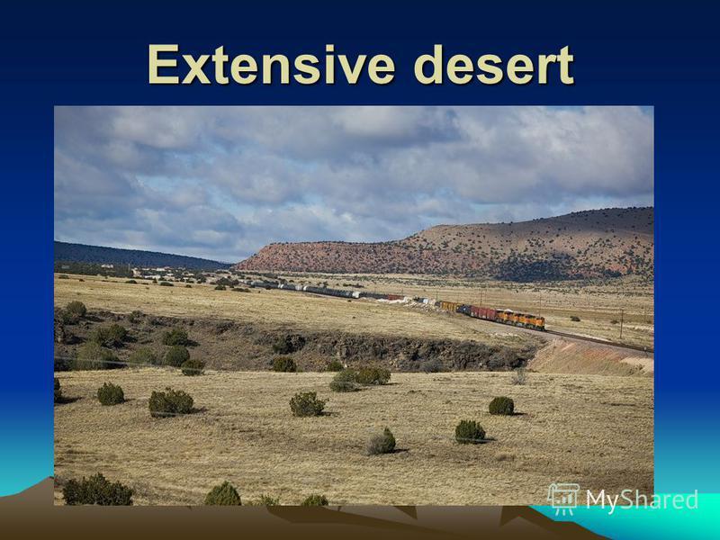 Extensive desert