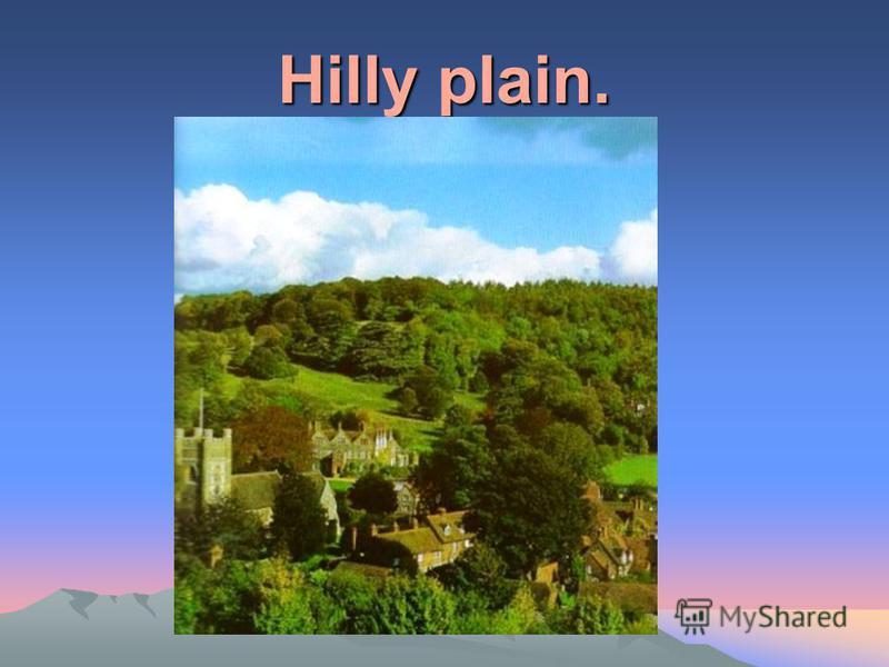 Hilly plain.
