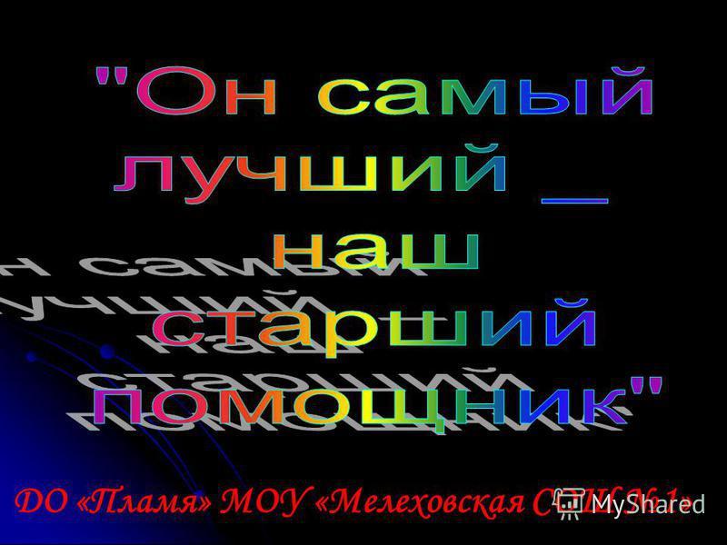 ДО «Пламя» МОУ «Мелеховская СОШ 1»