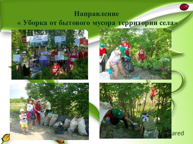 Направление « Уборка от бытового мусора территории села»